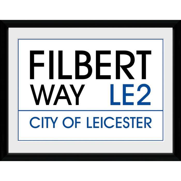 Photographie encadrée Leicester Street Sign 30 x 40 cm
