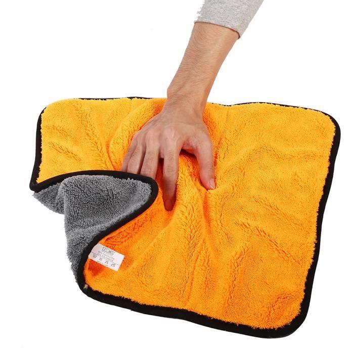 Serviette de nettoyage en microfibre Serviette de voiture chiffon propre 45 x 38cm