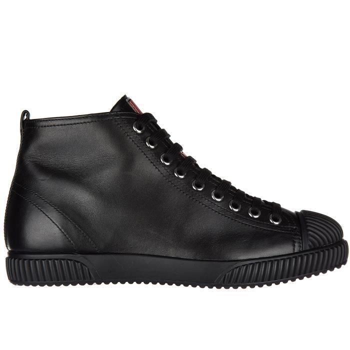 Soft Hautes En Vitello Femme Baskets Chaussures Cuir Prada Sneakers 0zxfFHwq