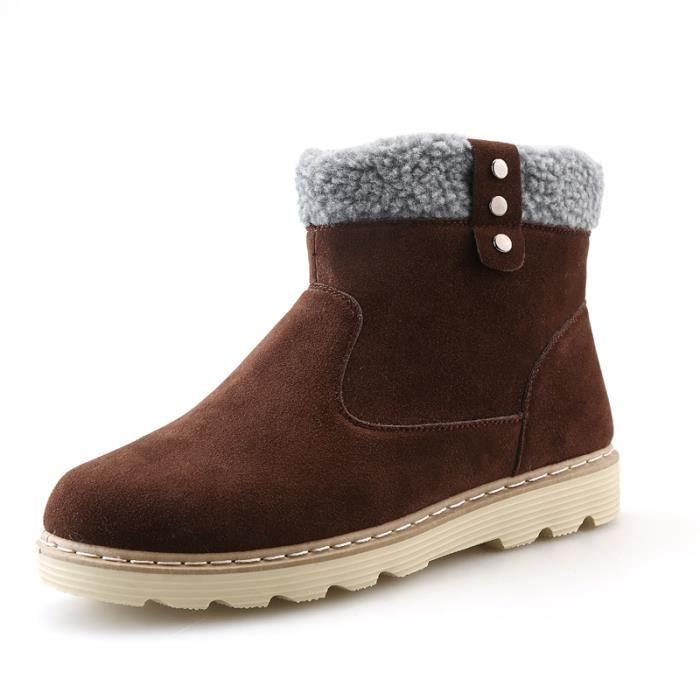 Chaussures homme Bottes courtes Bottes avec coton Bottes hiver Bottes mode Chaussures chaudement Chaussures montantes Chaussures