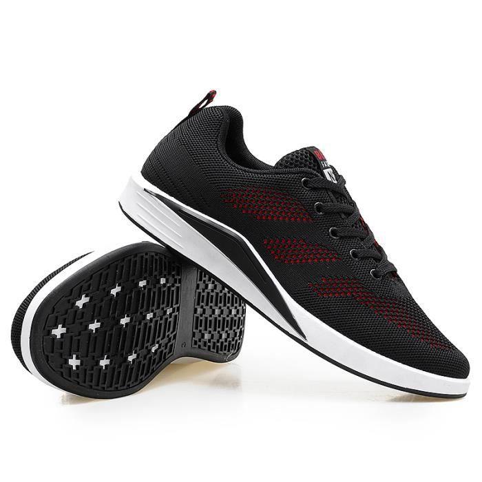 Durable homme qualité Basket Luxe de Mode Chaussures De De sport Haut Marque Nouvelle Confortable Noir Bzngz4