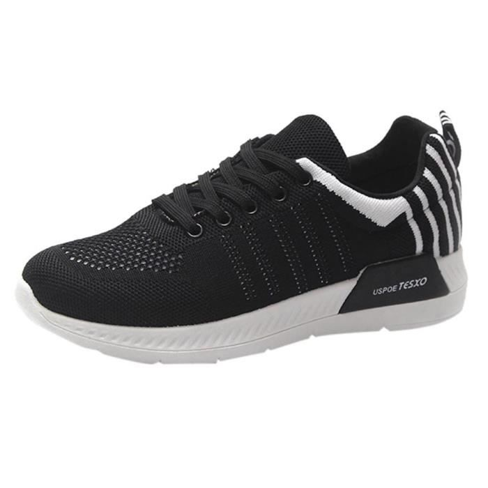 Casual Lacent Mode De Mocassins Chaussures down8206 Rond Femmes Plat Sneaker Course Bout qXF451Bw