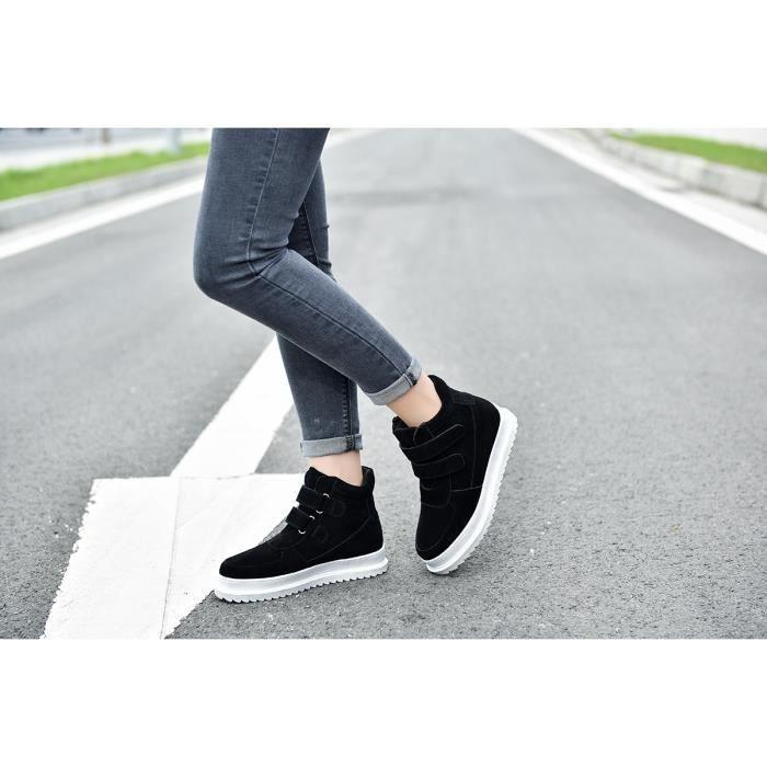 Chaussures femme Bottes courtes Bottes avec coton Bottes pour l'hiver Chaussures mode Bottes mode Chaussures chaudement Chaussures