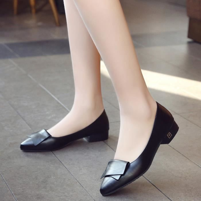 Chaussure Femmes Printemps Été Comfortable Faible Talon Chaussures TYS-XZ069Noir38 9b3Xpas