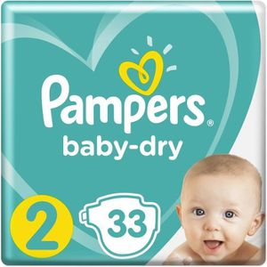 COUCHE Pampers Baby-Dry Taille 2 3-6 kg - 33 Couches