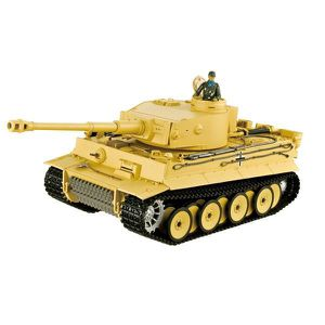 VOITURE - CAMION CHAR RC2.4GHZ 1/16 TIGER 1 FIRST VER.  (BRUIT/FUME
