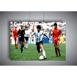 AFFICHE - POSTER Poster Diego Maradona Action Football Wall Art - A