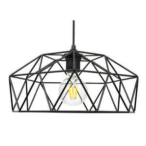 LUSTRE ET SUSPENSION Suspension filaire dôme géométrique scandinave en