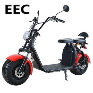 TROTTINETTE ELECTRIQUE Scooter électrique homologué EEC 1000W 12AH Rouge