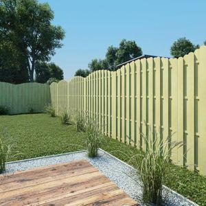 VidaXL 10x Bordures de Jardin en Bois à Planter 60 cm ...