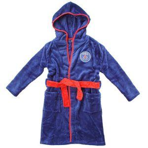 Robe de chambre enfant psg peignoir polaire gar on football bleu bleu achat vente robe de - Robes de chambre enfants ...