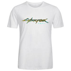 CHEMISE DE SPORT Homme Cyberpunk 2077 Tee Shirts - Blouse Coton T s