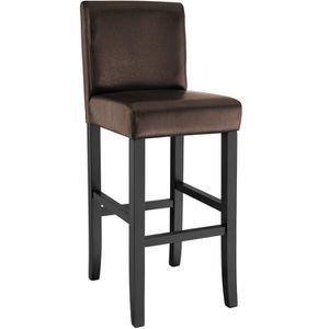 TABOURET DE BAR Tabouret Bar, Chaise de Bar design Noir 111 cm TEC