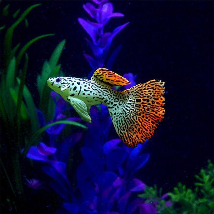 Plastique Natation Faux Or Poissons D'aquarium Décor Orname Cadeau_poi463