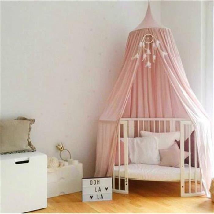 ciel de lit rose en coton - achat / vente pas cher