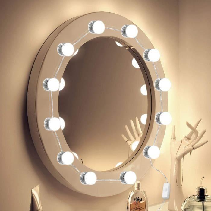 Led Éclairage Miroir Maquillage De Lampe Pour Kit 12 Lumineux TFJlK31c