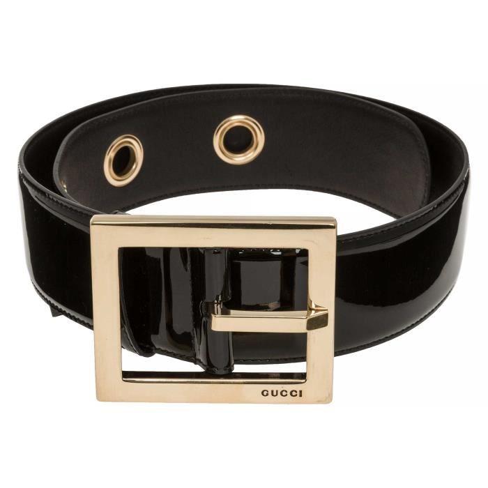 2a34c00a0a0e GUCCI Ceinture en cuir Noir Noir - Achat   Vente ceinture et boucle ...