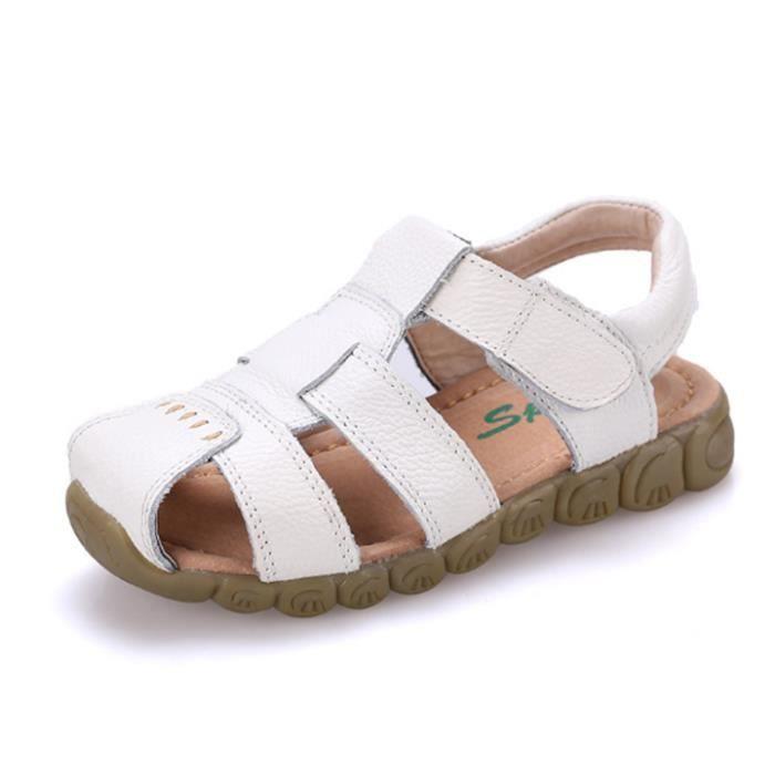 enfant garcon chaussures sandale cuirBlanc lPSpk6jLk9