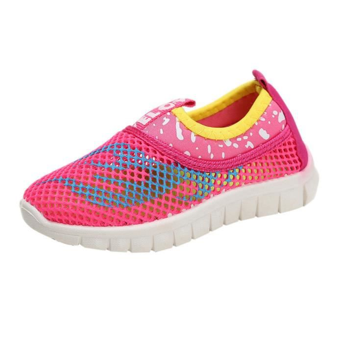 Sport Tissu Chaussures Rose Fille Casual Bonbons Couleur Sneakers HqYAwqR 3aa16aa0c944