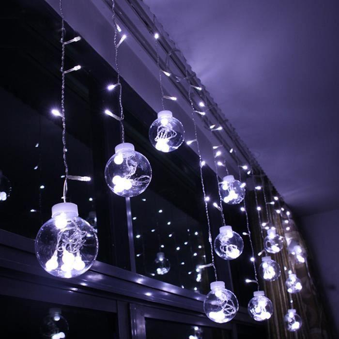 Decoration De Noel Exterieur Lumineuse.Rideau Lumineux De Noël 3m Extérieur Mariage Déco Eu Prise Lavent Blanc
