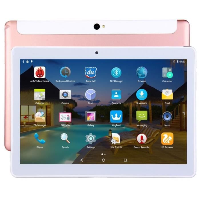 f5328aed47418d Tablette 4G 10 Pouces IPS 2K Android Octa Core Double SIM 2Go RAM 32Go Or  Rose