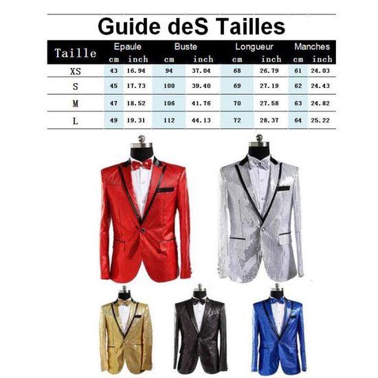 Veste Paillettes Homme Masculin Marque Col De Vêtement En Revers Mode Couleur Performance V qqwrnF