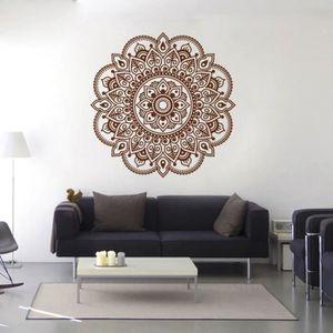 Elegant OBJET DÉCORATION MURALE Mandala Fleur Indien Chambre Salon Stickers Muraux