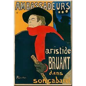 OBJET DÉCORATION MURALE Plaque Métal Pub Rétro - Aristide Bruant - 30x40 c