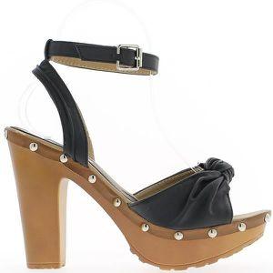ESCARPIN Sandales noires à gros talons de...