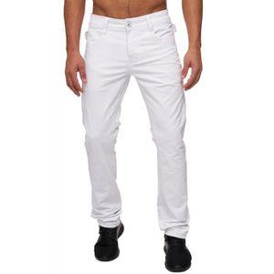 Jeans blanc homme - Achat   Vente Jeans blanc Homme pas cher - Cdiscount 5dff60a083d
