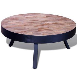 TABLE BASSE Table basse Table de Salon Ronde Avec 3 pieds en m