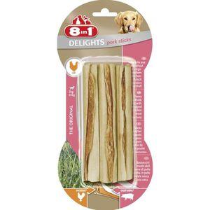 FRIANDISE 8in1 Stick à mâcher Delights au porc - Pour chien