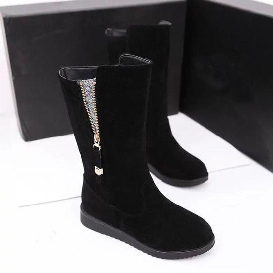 Chaussures Martin Bottes Pageare4292 Réchauffez Dames Les Plates Faux Femmes Bling Chevalier Boucle cqAUavw4z