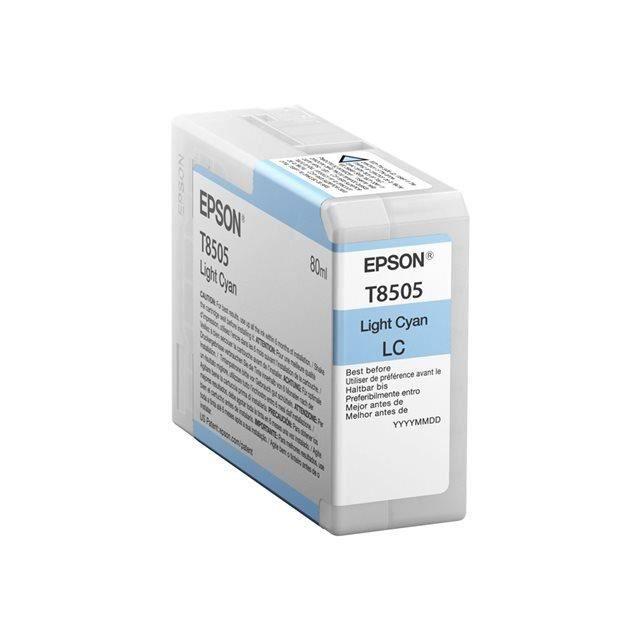 EPSON Pack de 1 Cartouche d'encre T850800 UltraChrome HD - Noir - 80ml