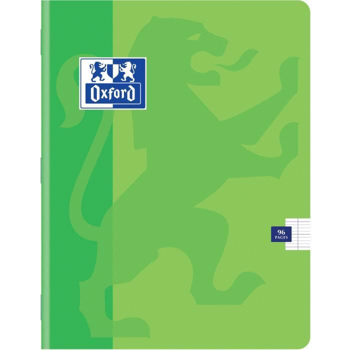 OXFORD Cahiers Color Life 17x22 Seyes - Vert