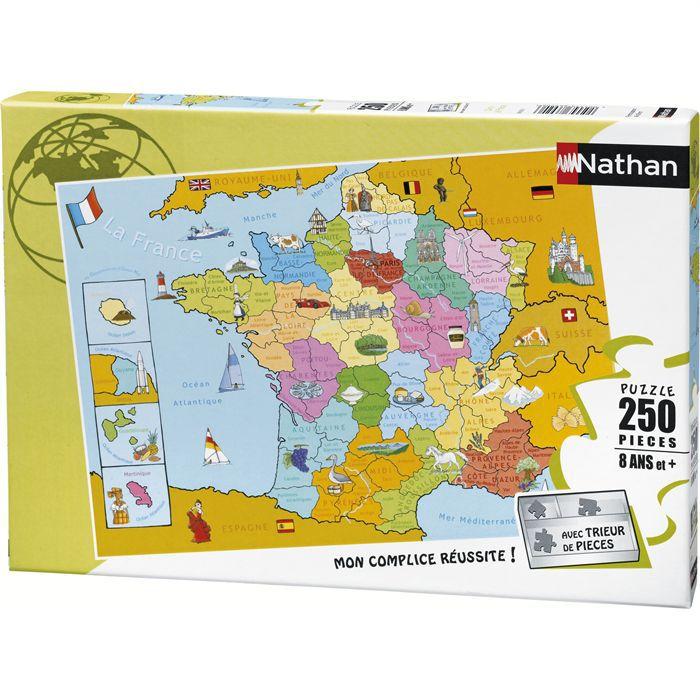 Puzzle 250 pcs Carte de France