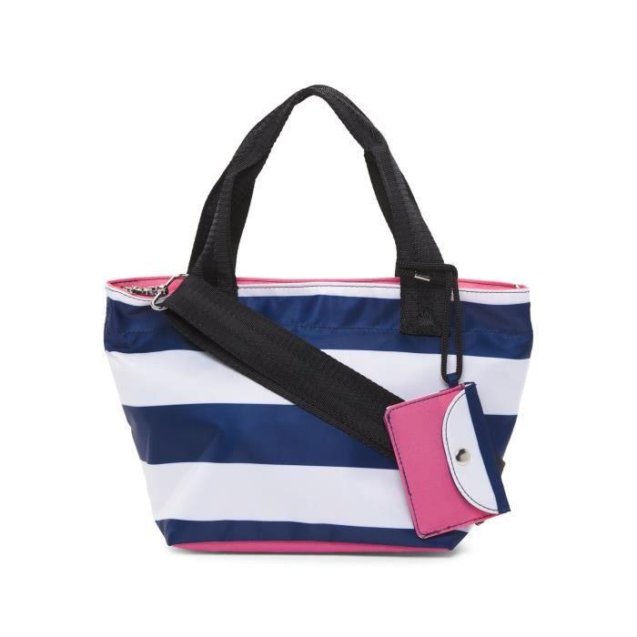 Petit sac en bandes marine et blanc GND2I