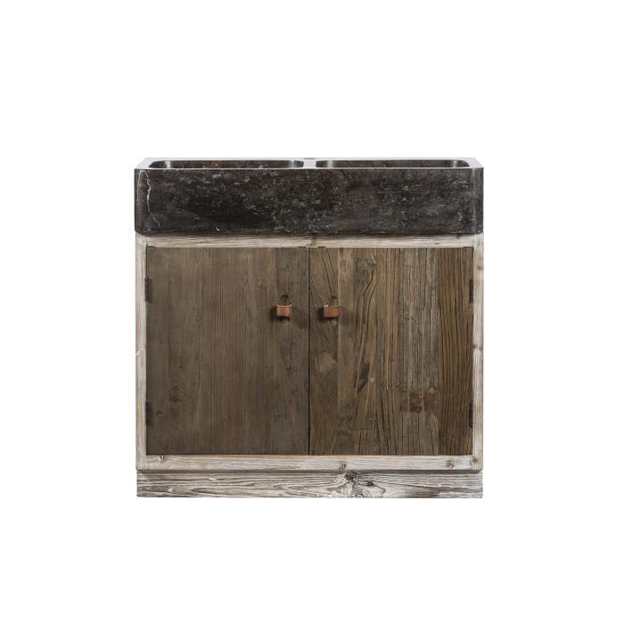 meuble bas vier pierre bleue h 90 cm voyage meuble house marron achat vente meuble sous. Black Bedroom Furniture Sets. Home Design Ideas