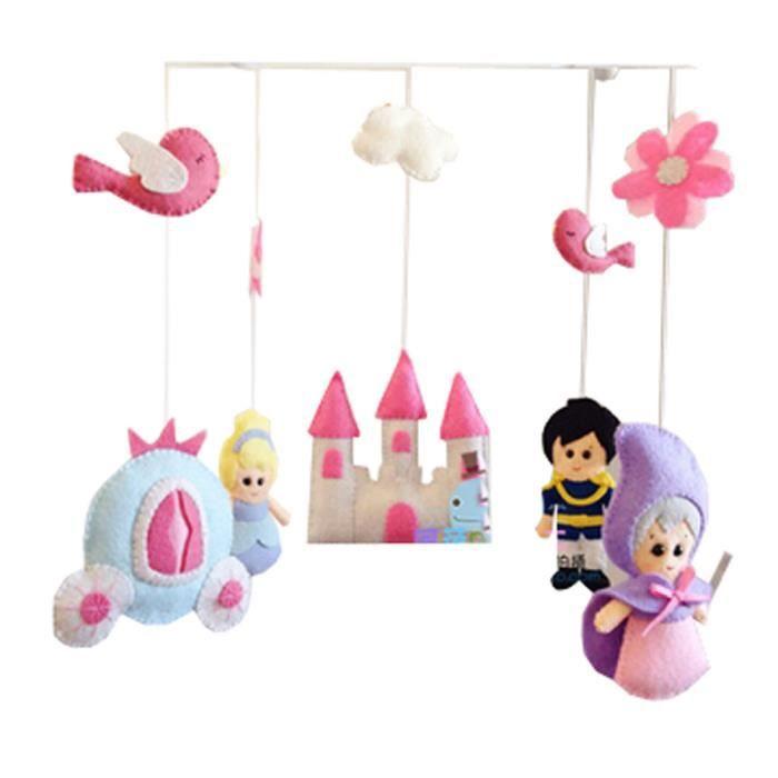 Diy Nursery Mobiles Pour Berceau Decorations Lit Mobile Rose Cot Mobile