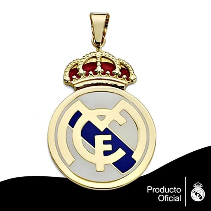 Pendentif écusson Real Madrid or massif 18k 36mm. émail