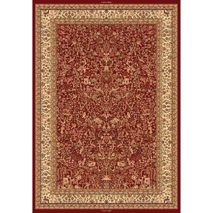 tapis moderne prestige oriental hayat rouge 80 achat. Black Bedroom Furniture Sets. Home Design Ideas