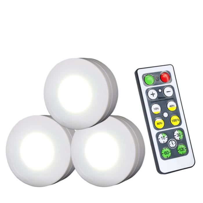 AutomatiqueLed Placard PileNuit Froid TelecommandeLampe A Armoire4 Veilleuse 5v6500kblanc 3pcs De 7y6gvbfY