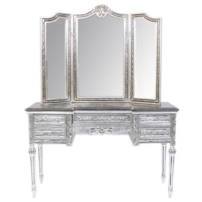 Casa Padrino console miroir de courtoisie baroque avec de l\'argent ...
