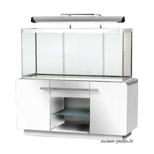 Aquarium osaka 320 blanc quip avec meuble design hagen for Vente aquarium en ligne
