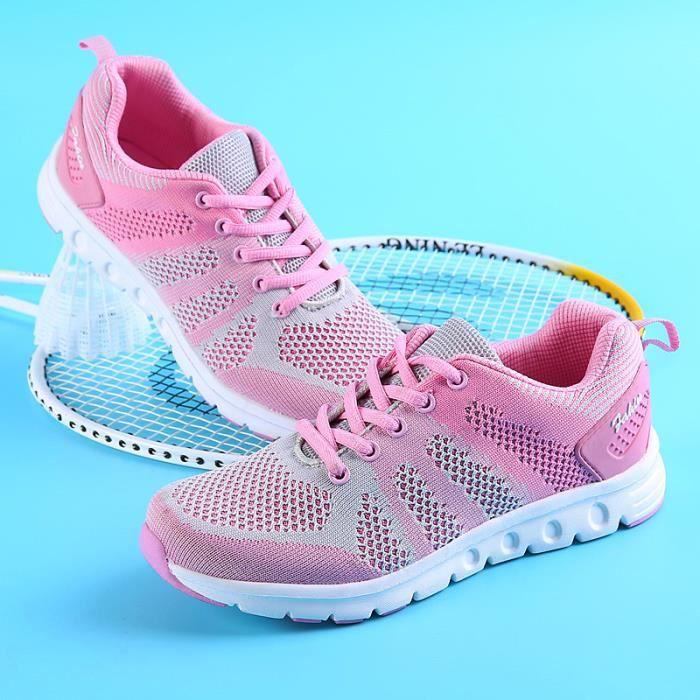 Dames d'été parsemés baskets maille chaussures de course respirant amortisseurs anti - chaussures de sport dérapage