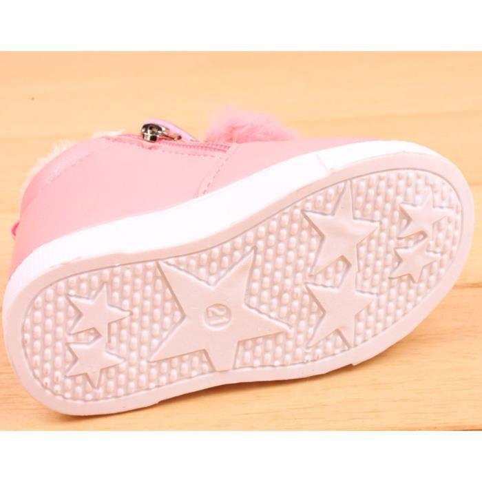 BOTTE Enfants Mode Garçons Filles Sneaker Bottes Enfants Chaud Bébé Casual Chaussures@RougeHM xVluvZz