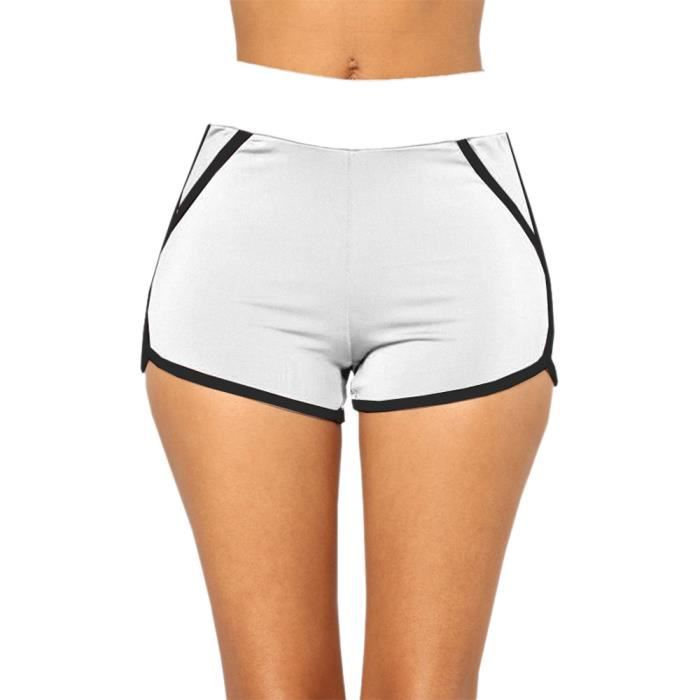 Gym Blanc Entraînement Jeffrey®pantalons Shorts Yoga D'été De Xxl8519wh Ceinture Femmes Sport Jogging Uafap1xq
