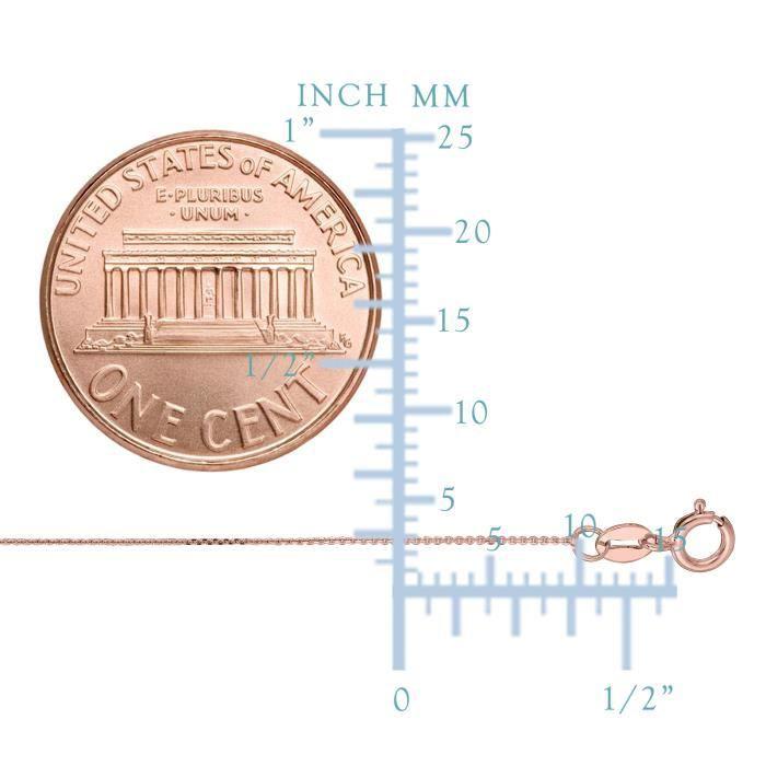 Chaîne- 14k Rose orLink en , 0,5 mm, 20