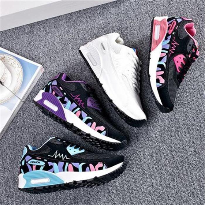 Sneaker blanc Grande 2017 Baskets De 35 Ete Durable bleu Nouvelle Cool Rose Femme Chaussures Antidrapant Luxe violet Femmes Sport Mode Taille Marque KJ3FTlc1