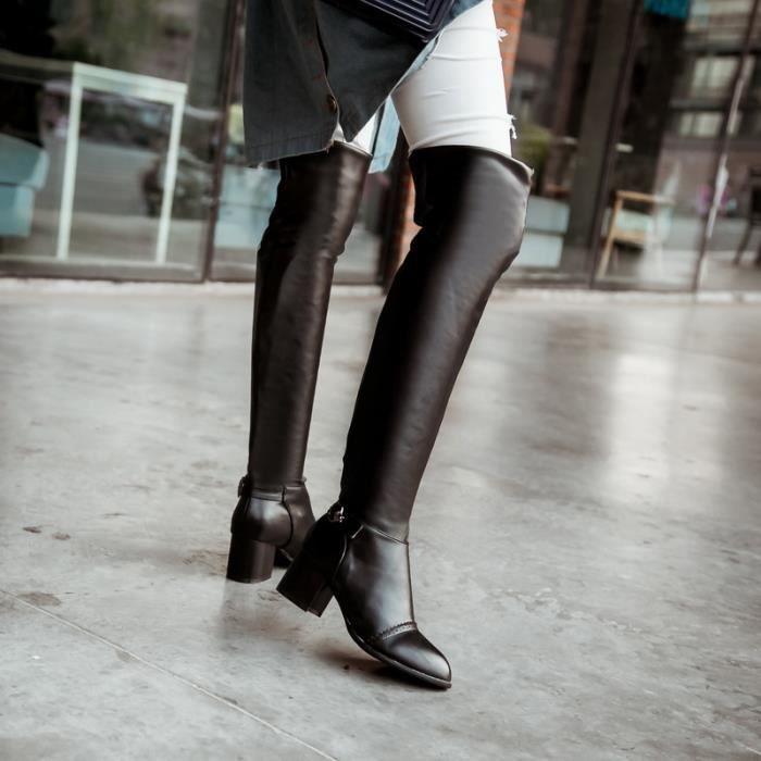 Femme Botte Chic Tempérament Métropole Haute Qualité Affaires Individualité Mini Confortable